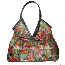 New Fashion printed cotton lady bags handbags