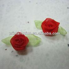 Organza Rose ruban pour décoration de mariage