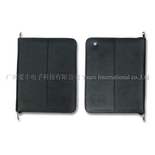 Genuine zipper brief leather case For new ipad ipad2/3/4
