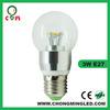 3w globe led candle lamps cap e27