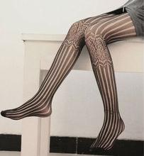 Black mesh cotton silk stockings, sexy gilrs transparent tights pantyhose