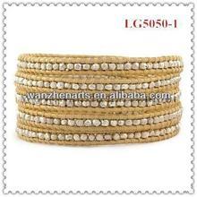 latest design of fashion wrap bracelet wholesale angel wings beads LG5050-1G6