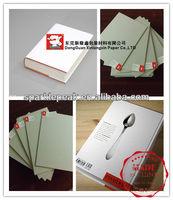 book cover gray paper board