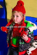 Girls designer winter jacket, Children winter clothing for christmas