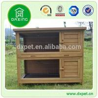 Two Plastic Tray Wooden Rabbit House (BV SGS TUV)