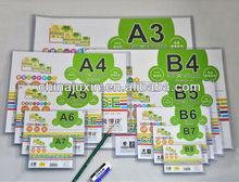 transparent pvc card case ,a1,a2 ,a3, a4,a5,a6,a7 card holder