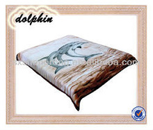 100%polyester weft mink cheap dolphin animal printed soft blanket
