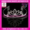 La moda de aleación de cristal de la boda la novia corona tiaras/diademas