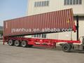Pies 3 ejes 40 de carga de contenedores volquete remolque camión con Hyva cilindro