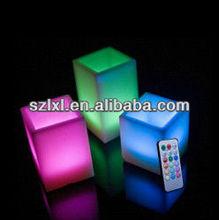 LED Color Option Square Shape LED Remote Control Flameless Safe wax candle light