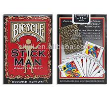 Bicycle Brand Poker Playing Cards- STICK MAN