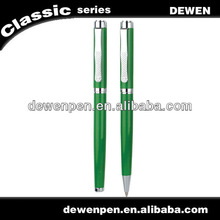 well -designed dewen green color metal ball pen,superior quality pen