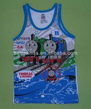 new branded Tomas boys vest tops 2 color/pack