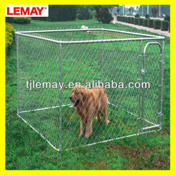 cheap chain link dog cage dog kennel 7.5' x 7.5' x 6'