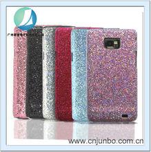 Glitter non-slip surface case for Samsung Galaxy s2 i9100