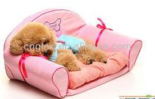 pink velvet small dog princess bed