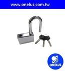 Hardened heavy duty steel container lock
