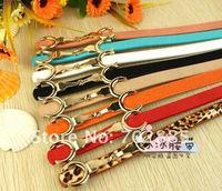 2012 New Design Fashion women decorative PU belt, candy color fashion belt for women wholesale