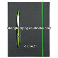 notebook with pen