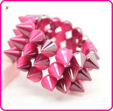 pink rivet bracelets for fashion men (B102936)