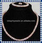 Nice Purple Original Pearl Necklace Set PJS067