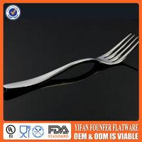 Hotel kitchenware utensils of salad fruit fork