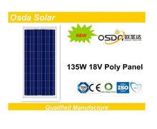ODA135-18-P 135W Poly Solar Panel 18V