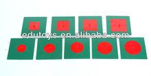 Montessori Materials - Metal Inscribed & Concentric Figures