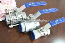 product CF8 3pc ball valve enterprise