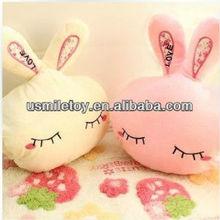 throw pillow,hold pillow,hand warmer pillow, rabbit handwarer