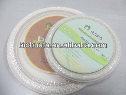 Plato desechable, Bio de plástico plato de comida, Vajilla de lujo paquete