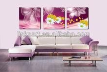 modern assortment of flower canvas prints