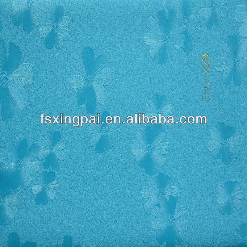 Sky blue flowers wallpaper sky blue flower pvc wallpaper