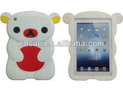 For iPad Mini Case 3D Bear Silicone Cover