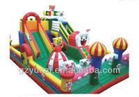 Interesting castle inflatable slide