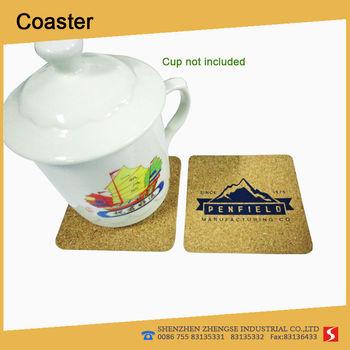Heat resisting user friendly Cork Coaster