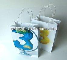 Fashion transparent promotion gift paper bag