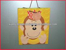 big mouth monkey matte laminated coated art paper gifts bag