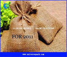 Eco-friendly jute pouch with custom logo