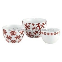 Christmas novelty design colorful ceramic dip bowl