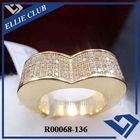 cz stone inlay brass rings jewellery
