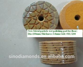 New metal particle floor diamond wet polishing pads