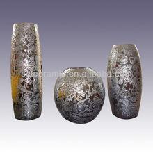 Modern Silver Porcelain Vase Decoration
