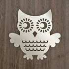 Owl Acrylic Mirror, laser cut plastic mirror wall decoration
