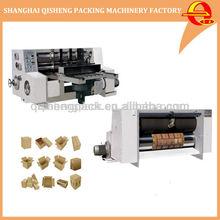 Automatic carton box corrugated cardboard flatbed rotary die cutter machine
