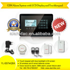 Home automation! Voice announcement home alarm GSM anti-theft systems with motion sensor and touch keypad