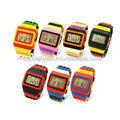 rainbow pulseira unissex baratos relógios digitais para adolescentes