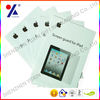 hot sales! paper package for iphone and ipad screen protector with silver stamping