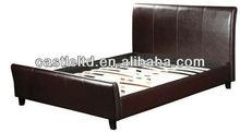 Bed frame black leather