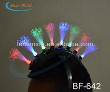 adult Unique Design fiber Spik LED SPike Mohawk headwear